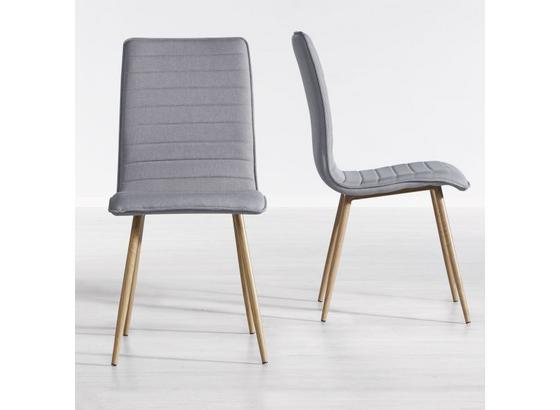Jídelní Židle Milena - světle šedá, Moderní, kov/dřevo (45/91/56,5cm) - Mömax modern living