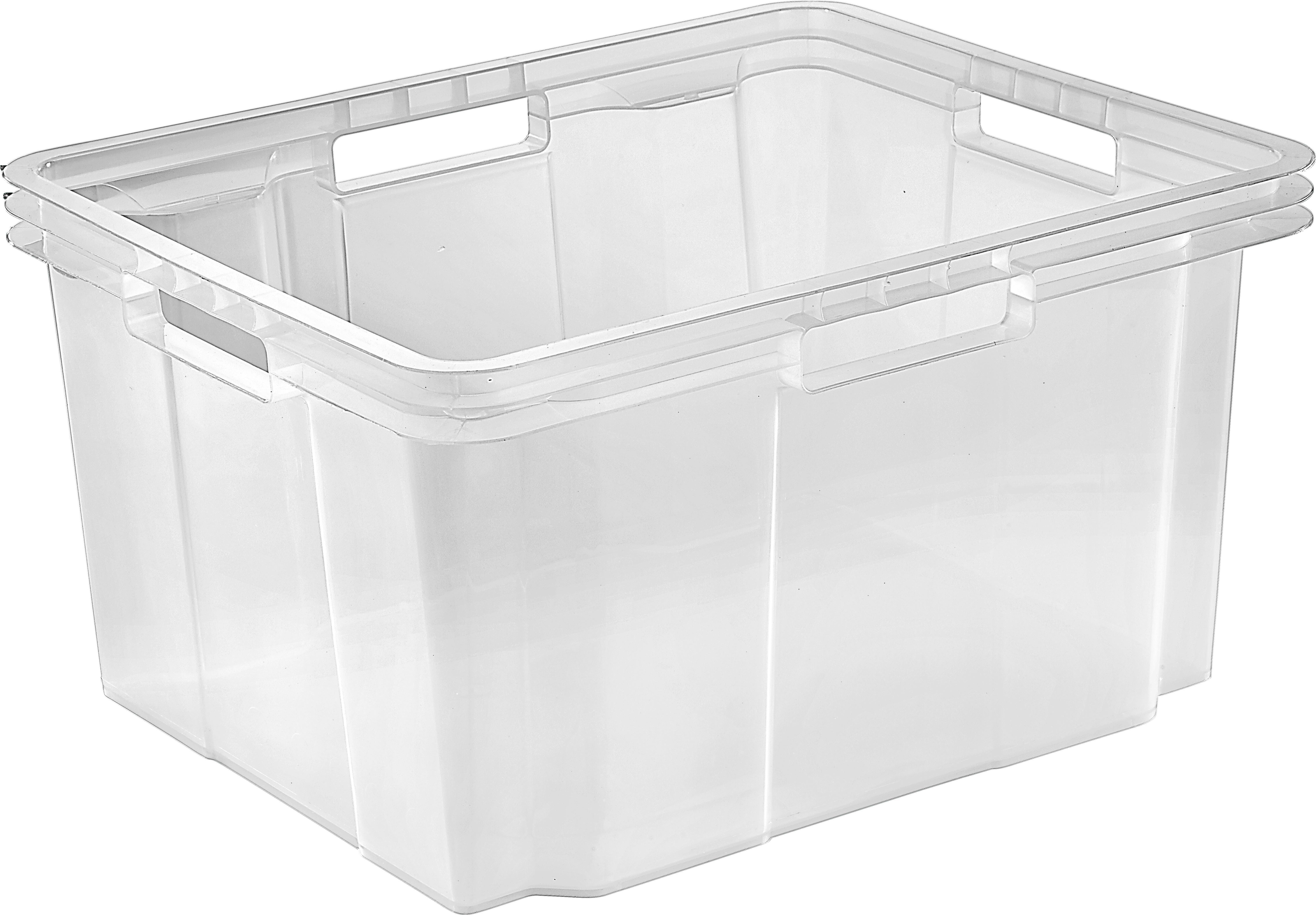 Box Úložný 22040805 - průhledná, Basics, umělá hmota (43/23/35cm)