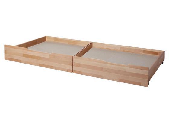Bettkastenset Sammy B: ca. 96,5 cm Buche - Naturfarben, MODERN, Holz (96,5/21/94cm) - Livetastic