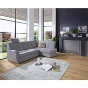 Wohnlandschaft in L-Form Sonoma 246x176 cm - Chromfarben/Hellgrau, MODERN, Textil (246/176cm) - Ombra