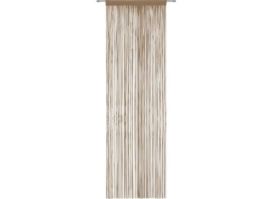 Nitkový Záves Victoria - hnedá, textil (90/245cm) - Mömax modern living