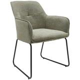 Stuhl Pippo B: 52 cm Graugrün - Schwarz/Grau, MODERN, Textil/Metall (52/86/64cm) - MID.YOU