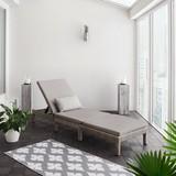 Lehátko Z Ratanu Sarah - šedá/světle šedá, Moderní, kov/textilie (60/28/198cm) - Modern Living