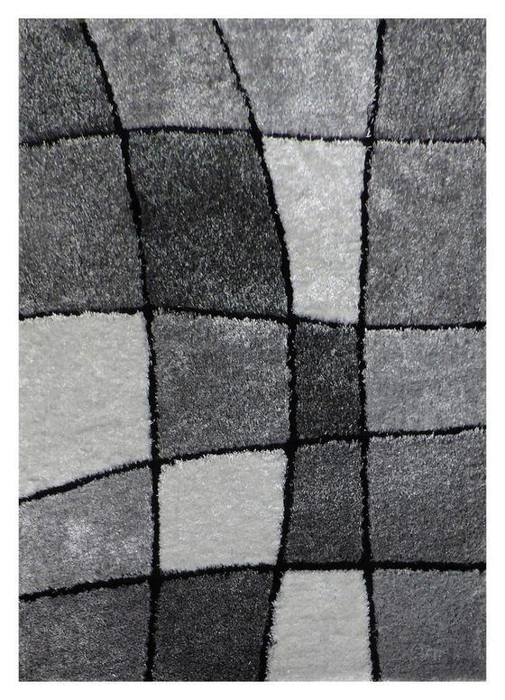 Koberec S Vysokým Vlasom Fancy 3 - čierna/sivá, Konvenčný, textil (120/170cm) - Mömax modern living