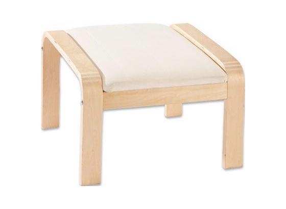 Taburet Sally - prírodné farby/farby brezy, Basics, drevo/textil (50/52/41cm)