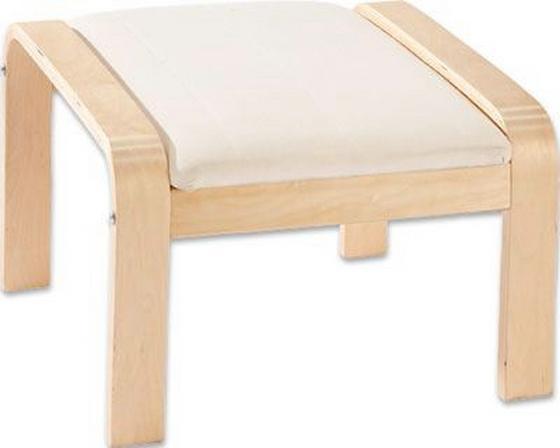 Taburet Sally - přírodní barvy/barvy břízy, Basics, dřevo/textilie (50/52/38cm)