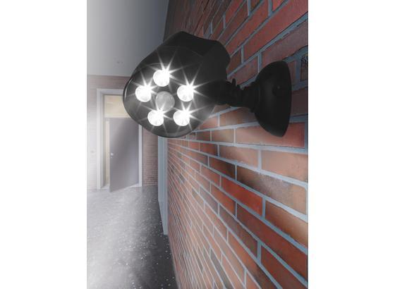 Easy Maxx LED-Strahler 360° - Schwarz, MODERN, Kunststoff (10/12,4/17cm)