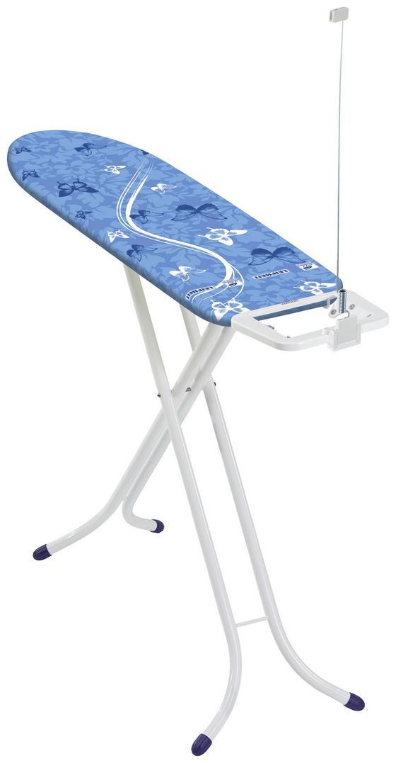 Bügelbrett Air Board Compact S - Blau/Weiß, MODERN, Textil/Metall (144/40/88cm) - Leifheit