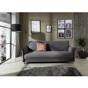 Schlafsofa mit Bettfunktion Modena Webstoff - Edelstahlfarben/Grau, MODERN, Holz/Textil (207/84/93cm) - Luca Bessoni