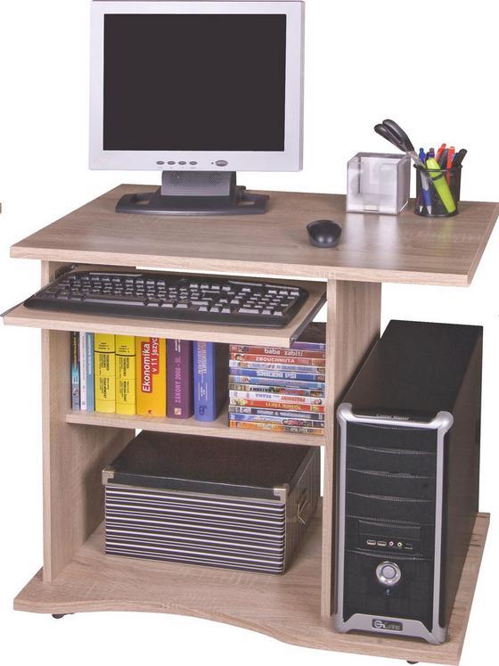 Íróasztal Olin - tölgy színű, modern, fa (78/75/50cm)