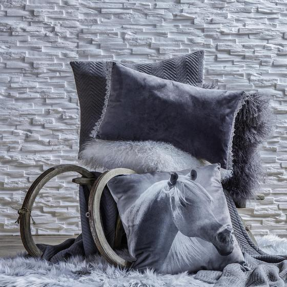 Polštář Ozdobný Pferd - Multicolor, textil (45/45cm) - Mömax modern living