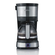 Severin Filterkaffeemaschine Glaskanne 4 Tassen - Edelstahlfarben/Schwarz, Basics, Glas/Kunststoff (14/27/19,5cm) - Severin