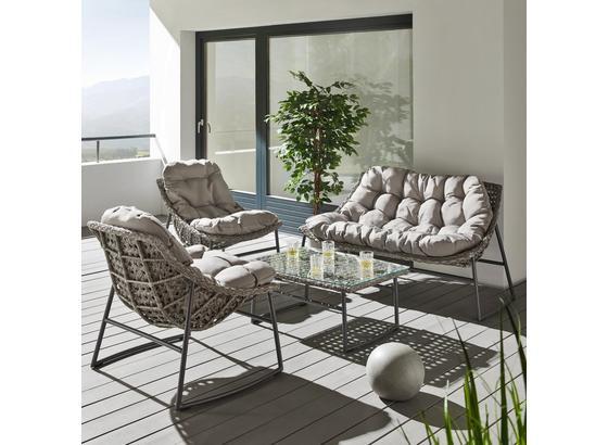 Záhradná Súprava Cathy - sivá, Moderný, kov/textil - Mömax modern living