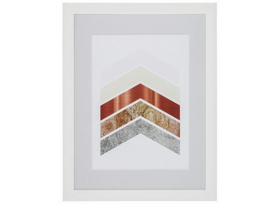 Bilderrahmen Noah, 30x40cm - Weiß, KONVENTIONELL, Glas/Holz (30/40cm) - Luca Bessoni