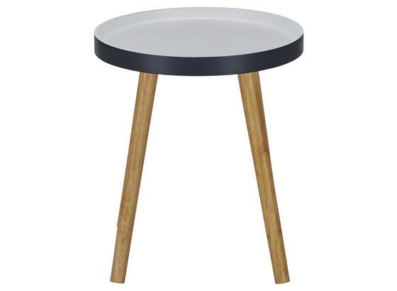 Odkladací Stolík Lorenz -exklusiv/sb- - farby dubu/biela, Moderný, drevo (40cm) - Mömax modern living
