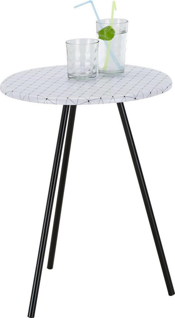 Odkladací Stolík Nicko - čierna/biela, drevený materiál (40/50/40cm)
