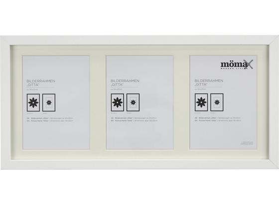 Rám Na Fotky Gitta - biela, Moderný, kompozitné drevo/sklo (23/50cm) - Mömax modern living