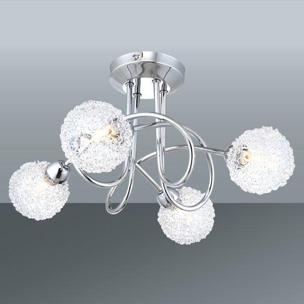 Stropná Lampa Mia - farby chrómu, Moderný, kov/sklo (36/19cm) - MÖMAX modern living