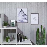 Bilderrahmen Aaron, 30x40 cm - Anthrazit, ROMANTIK / LANDHAUS, Kunststoff (30/40/1,7cm) - Luca Bessoni