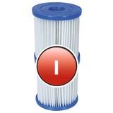 Filterkartusche für Bestway Flowclear Pumpe, Größe 1 58093 - Blau/Weiß, MODERN, Kunststoff (8/9cm) - Bestway