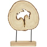 Skulptur Holzstamm - Naturfarben, MODERN, Holz (34/50cm) - James Wood