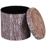 Taburet Woody - farby piesku/hnedá, Moderný, drevený materiál/textil (40/37cm)