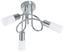 LED-Deckenleuchte Saragossa - Weiß/Nickelfarben, MODERN, Glas/Metall (45,5/23cm)