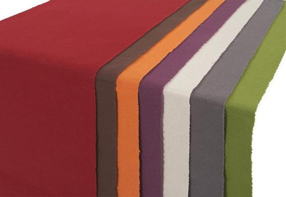 Tischläufer Maren - Anthrazit/Lila, KONVENTIONELL, Textil (38/136cm) - Ombra
