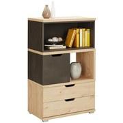 Komoda Highboard Player - barvy dubu/tmavě šedá, Moderní, kompozitní dřevo (71/116/40cm)