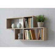 Nástenný Regál Nora - farby dubu/biela, Moderný, drevený materiál (100/53/19,5cm)