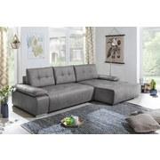 Wohnlandschaft In L-Form Funky 268x165 cm Silberfarben - Silberfarben, Basics, Holz/Textil (268/165cm)
