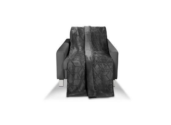Kuscheldecke Melinda/Talisha - Anthrazit, MODERN, Textil (130/170cm) - Luca Bessoni