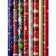 Geschenkpapier Weihnachten - Blau/Rot, Basics, Papier (70/250cm)