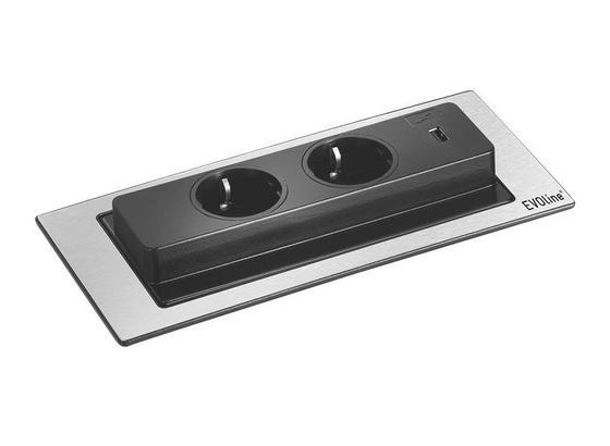 Zástrčka Rozbočovací Evoline Backflip - barvy nerez oceli, Romantický / Rustikální, umělá hmota (22,5/5,3/10,5cm)