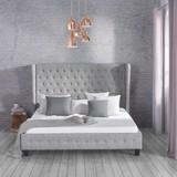 Čalouněná Postel Claude - šedá, dřevo/textil (213,5/200/139cm) - Mömax modern living