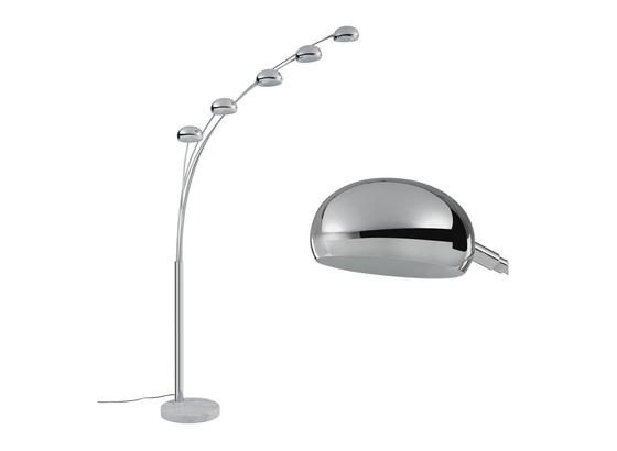 Stojacia Lampa Stella - chrómová, Moderný, kov/kameň (110/210cm) - Mömax modern living