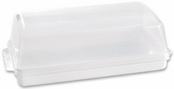 Brotdose Weiss - Klar, KONVENTIONELL, Kunststoff (19/14/40cm)