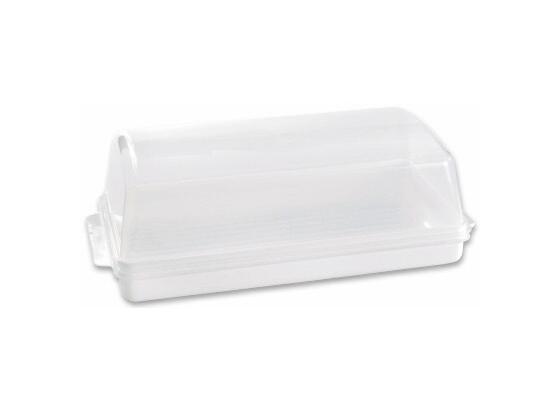 Kenyértartó Műanyag - Átlátszó, konvencionális, Műanyag (19/14/40cm)