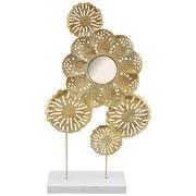 Skulptur Elian - Goldfarben, LIFESTYLE, Glas/Holz (29/8/44cm) - Luca Bessoni