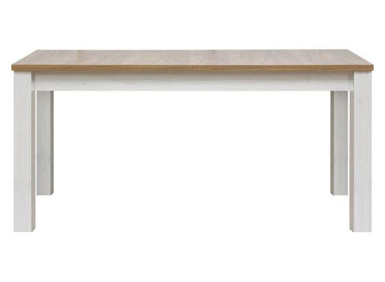 Jedálenský Stôl Noto - biela, Romantický / Vidiecky, drevo (160-200/76/90cm)