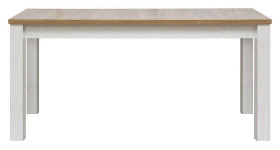 Jídelní Stůl Noto - bílá, Romantický / Rustikální, dřevo (160-200/76/90cm)
