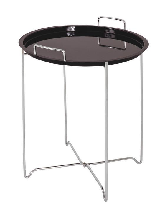 Odkládací Stolek Dan - černá, Moderní, kov/umělá hmota (45/51cm)
