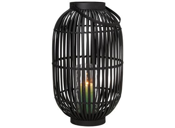 Lucerna Palma - černá, dřevo/sklo (30/50cm) - Mömax modern living