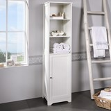 Regál Do Kúpeľne Bianca - bílá, Moderní, dřevo (40/160/38cm) - Mömax modern living