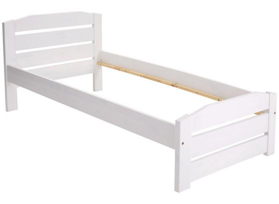 Postel Thea 90 - bílá, Romantický / Rustikální, dřevo (97/79/208cm)