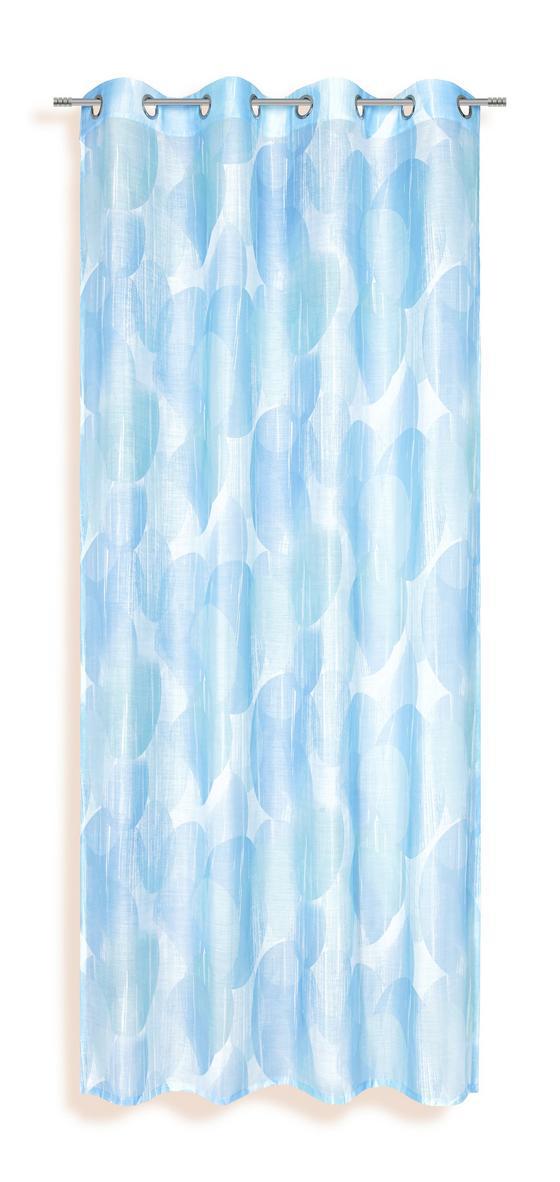 Ösenvorhang Susan - Blau, KONVENTIONELL, Textil (135/245cm) - Ombra
