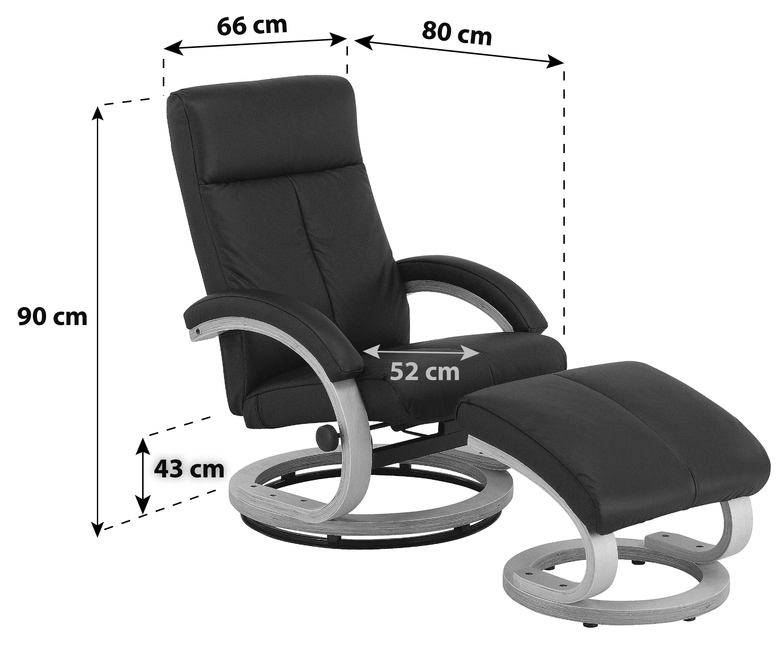Tv-fotel Niklas - sötétszürke, modern, textil/fa (66/98-86/80-110cm) - OMBRA
