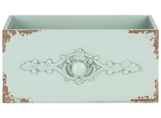 Dekoračná Krabica Schubia - zelená, kompozitné drevo (29/14/14cm)