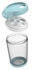Schüttdose Bruni 0,5 Liter - Transparent/Weiß, KONVENTIONELL, Kunststoff (11/9/14,5cm)