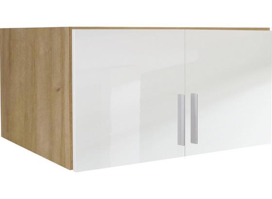 Aufsatzschrank Celle02 B:91cm Weiß/ Riviera Eiche Dekor - Eichefarben/Weiß, MODERN, Holz (91/40/54cm)